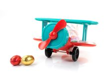 Aeroplane Easter Egg Toy Royalty Free Stock Photo