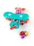 Aeroplane Easter Egg Toy Stock Image