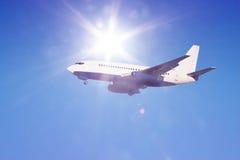 Aeroplane in flight Royalty Free Stock Photos