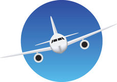 Aeroplane flight symbol Royalty Free Stock Photos