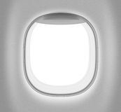 Aeroplane or jet white window Royalty Free Stock Photography