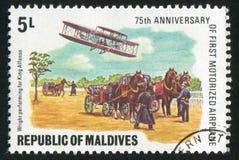 Aeroplane. MALDIVE ISLANDS - CIRCA 1978: stamp printed by Maldive Islands, shows aeroplane, circa 1978 stock image