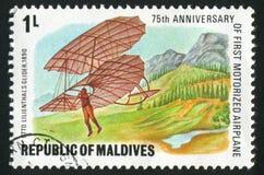 Aeroplane. MALDIVE ISLANDS - CIRCA 1978: stamp printed by Maldive Islands, shows aeroplane, circa 1978 stock photos