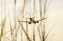 Aeroplane Ready to Landing Stock Photos
