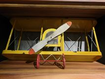 The aeroplane is ready to take off stock photos