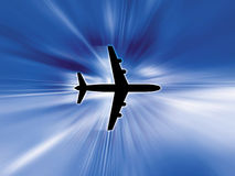 Aeroplane in sky. Illustration Royalty Free Stock Image