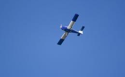 Aeroplane on sky background Stock Image