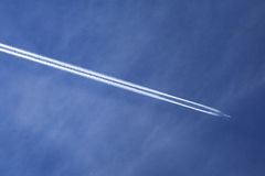 Aeroplane on the sky Royalty Free Stock Photography