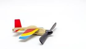 Aeroplane toy on white background Stock Image