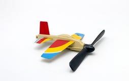 Aeroplane toy on white background Stock Photos