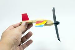 Aeroplane toy on white background Royalty Free Stock Photos