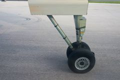 Aeroplane wheel Stock Images