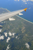 Aeroplane Window Seat the view from above Stock Photography