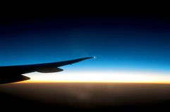 Aeroplane wing Stock Photography