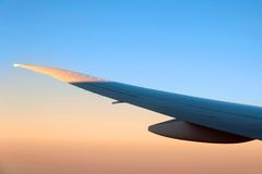 Aeroplane wing Royalty Free Stock Image