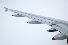 Aeroplane wing Royalty Free Stock Images