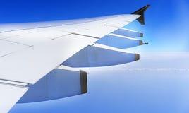 Aeroplane wing Stock Photo
