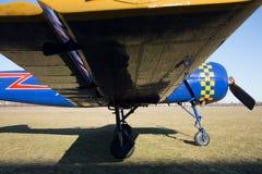 Aeroplane wing reflection closeup Stock Images