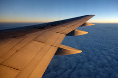Aeroplane wing Royalty Free Stock Photos