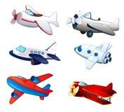 Aeroplanes. Illustration of various aeroplanes on a white background Royalty Free Stock Image