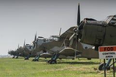 2 aeroplani fotografie stock