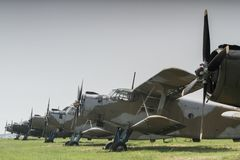 2 aeroplani fotografie stock libere da diritti