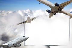 Aeroplani commerciali Immagini Stock