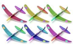 Aeroplani del giocattolo della schiuma di stirolo Immagini Stock Libere da Diritti