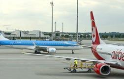 Aeroplani di Berlino dell'aria & del KLM Immagini Stock