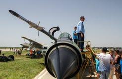 Aeroplani di MIG 21 Immagini Stock