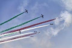Aeroplani nel cielo fotografia stock