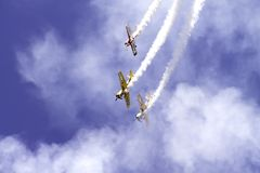 Aeroplani nel cielo Immagini Stock