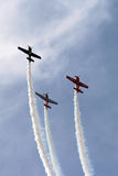 3 aeroplani nella formazione Fotografie Stock
