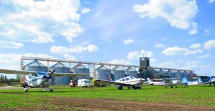 Aeroplani privati, Kamenets Podolsky, Ucraina Immagini Stock Libere da Diritti