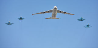 Aeroplani russi dell'aeronautica Immagini Stock