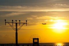 Aeroplano & aeroporto Immagine Stock