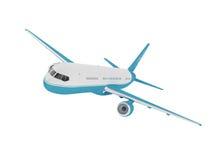 Aeroplano aislado en un fondo blanco stock de ilustración