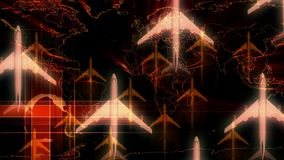 Aeroplano al espacio almacen de video