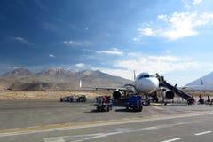Aeroplano all'aeroporto internazionale del ³ n di RodrÃguez Ballà arequipa peru Fotografia Stock Libera da Diritti