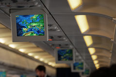 aeroplano all'interno Immagine Stock Libera da Diritti