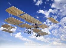 Aeroplano amarillo viejo Imagen de archivo libre de regalías