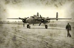Aeroplano antiguo del tiempo de guerra imagen de archivo libre de regalías
