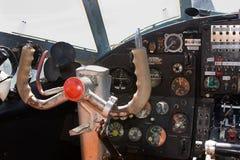 Aeroplano Antonov 2 della cabina di pilotaggio Immagini Stock
