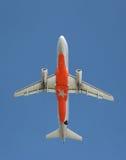 Aeroplano arancio Immagini Stock Libere da Diritti