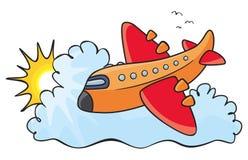 Aeroplano arancione Immagini Stock