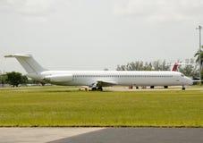 Aeroplano bianco Immagine Stock