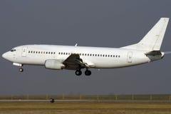 Aeroplano bianco del jet Immagine Stock Libera da Diritti
