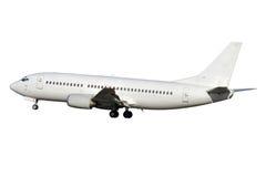 Aeroplano bianco del jet fotografia stock libera da diritti