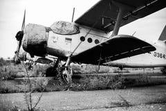 Aeroplano in bianco e nero fotografia stock libera da diritti