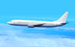 Aeroplano blanco Imágenes de archivo libres de regalías